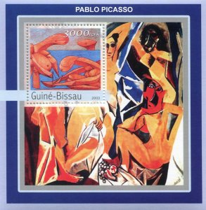 Guinea-Bissau 2003 PABLO PICASSO Nudes Paintings s/s Perforated Mint (NH)