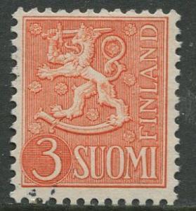 Finland - Scott 314 - Arms of Finland -1954- FU - Single 3m Stamp