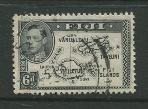 Fiji - Scott 135 - KGVI - Definitive - 1941 - Used - Single 6p - Stamp