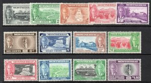 Montserrat 1951 KGVI set SG 123-135 mint