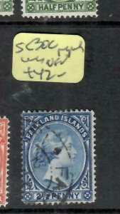 FALKLAND ISLANDS  (PP1106BB)  QV  2 1/2D  SG30C    VFU