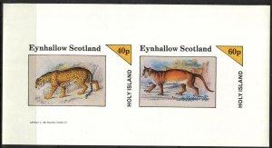 {E148} Eynhallow Scotland Wild Cats Sh.2 Imperf. MNH Cinderella !!
