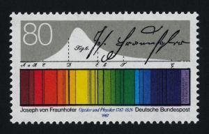 Germany 1501 MNH Light Spectrum, Joseph von Fraunhofer
