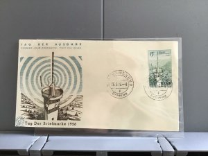 Germany Saarland 1956 Tag Der Briefmarke First Day Stamps Cover  R29264