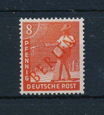 [23961] West Germany Berlin 1948 8 Pf with red overprint MNH VF