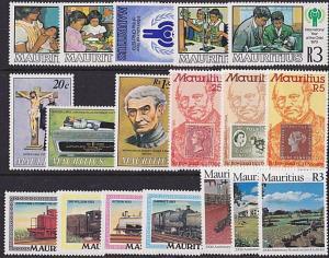 MAURITIUS 1979 5 different commem sets MNH..................................4904