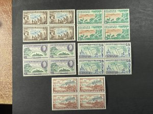 SOUTHERN RHODESIA # 74-78-MINT/NEVER HINGED--COMPLETE SET OF BLOCKS OF 4--1953