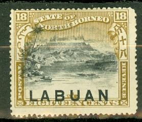 Labuan 81 unused no gum CV $15