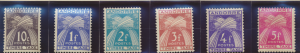 Andorra (French Administration) Stamps Scott #J32 To J37, Mint Hinged, Short ...