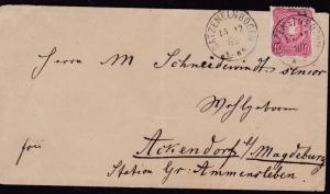Germany 1882 Cover from Catzenelnbogen (2 strikes) to Althaldensleben VF