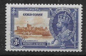GOLD COAST SG114 1935 SILVER JUBILEE 3d MTD MINT