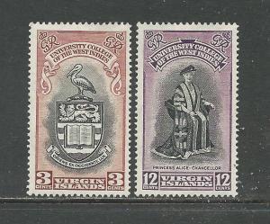 British Virgin Islands # 96-97 Unused HR