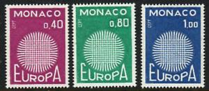 MONACO 1970 Europa Set of 3..MH