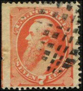 USA SC# 160 Edwin Stanton 7c used SCV $85.00