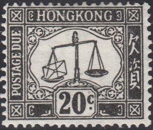 Hong Kong 1923 MH Sc J8 6c Postage Due