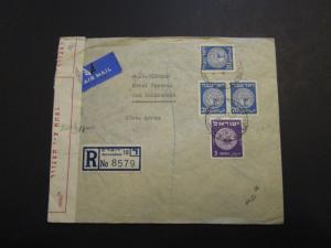 Israel 1950 Censor Cover to Switzerland / Light Creasing - Z3697