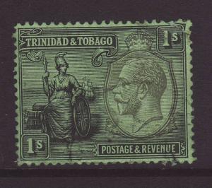 1922 Trinidad 1/ Wmk Mult Crown CA Used.