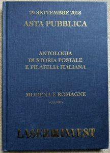 Auction Catalog MODENA ROMAGNE Italia Classic Italy Stamps Covers Postal History