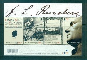 Finland - Sc# 1203. 2004 Poet Runeberg. MNH Souv. Sheet. $8.00.
