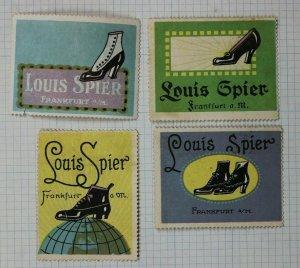 Louis Spier German shoe brand fashion Poster stamp ad label Frankfurt used