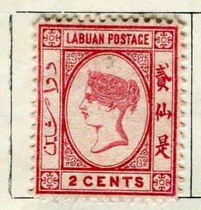 NORTH BORNEO LABUAN; 1886 early classic QV issue used 2c. value