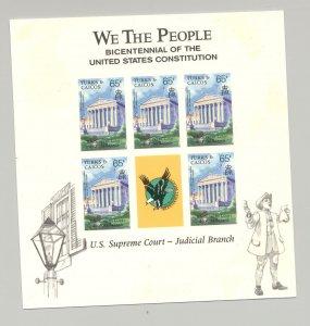 Turks & Caicos 1987 Supreme Court M/S of 5 Unissued Imperf Chromalin Essay