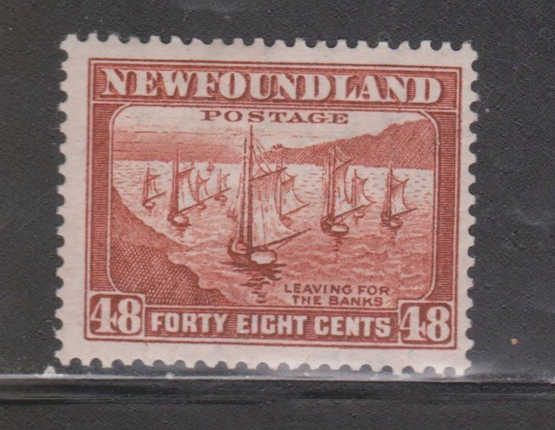NEWFOUNDLAND Scott # 199 - Mint Lightly Hinged Fishing Fleet Issue