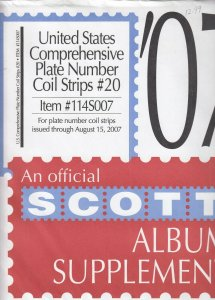 Scott U.S. Plate Number Coil Strips Supplement #20 Issues Through 2007