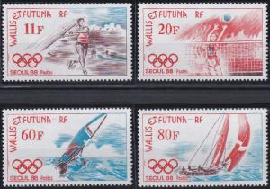 Wallis and Futuna 372-375 MNH (1988)