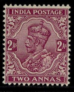 INDIA GVI SG205, 2a bright purple, M MINT. Cat £30. WMK MULT STARS