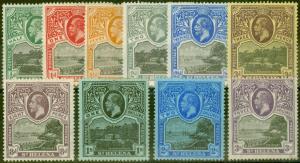 St Helena 1912-13 set of 10 SG72-81 V.F Very Lightly Mtd Mint