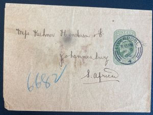 1903 Liverpool England Stationery Advertising Wrapper Cover To South Africa