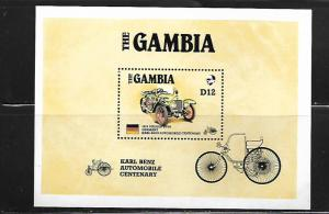 GAMBIA, 629, MNH, KARL BENZ AUTOMOBILE CENTENARY