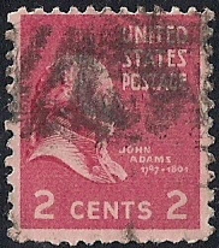 806 2 Cent John Adams Stamp Used AVG