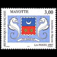 MAYOTTE 1997 - Scott# 86 Arms Set of 1 NH