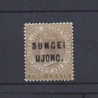 Malaya (Sungei Ujong), 19, Overprinted Single,**Hinged**