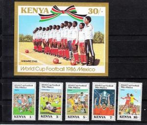 Kenya Scott 369-374 Mint NH (Catalog Value $23.60) Soccer
