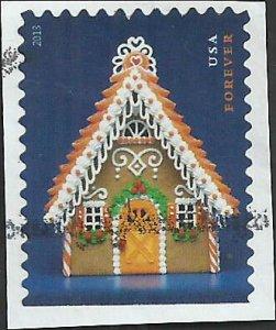 # 4820 USED GINGERBREAD HOUSE WITH ORANGE DOOR