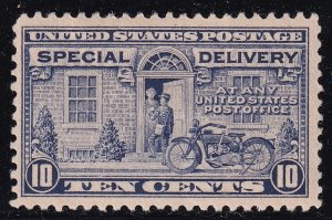 US STAMP BOB #E12 – 1922 Flat Plate Perf 11 10c SPECIAL DELIVERY MHR/OG CREASE