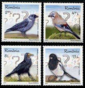 HERRICKSTAMP NEW ISSUES ROMANIA Sc.# 5901-04 Birds 2017