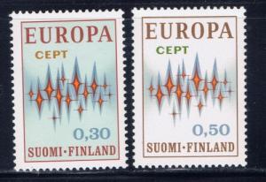 Finland 512-13 Hinged 1972 Europa set