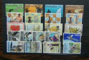 Barbados 1984 Olympics Chess Flowers 1985 Police Queen Mother Satellite Used