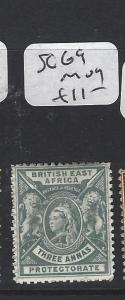 BRITISH EAST AFRICA (P2705BB)  LION QV  3A  SG 69   MOG