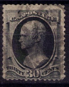 US Scott #190 Used Thin Reverse Center90c Black F-VF