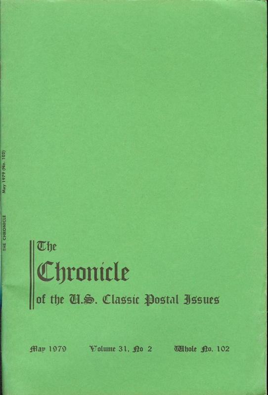 The Chronicle of the U.S. Classic Issues, Chronicle No. 102