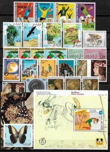 Worldwide Small MNH Lot of Stamps and S/Sheets (L002)