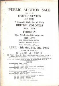 Billig & Rich: Sale # 14,15,16,17  -  Public Auction Sale...