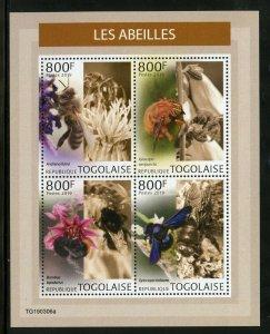 Togo 2019 Bienen Blatt Postfrisch