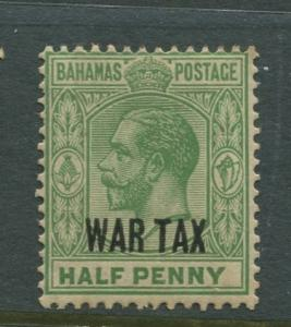 Bahamas -Scott MR6 - Queens Staircase War Tax -1918 - MH - Single 1/2p Stamp