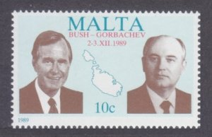 1989 Malta 830 Nobel Peace Prize / Bush and Gorbachev 5,00 €